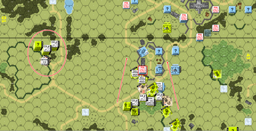 Turn 1 end American moves.